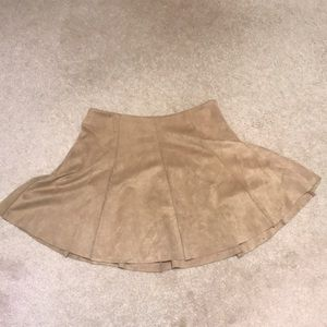 Design lab brown suede skirt